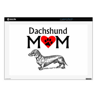 "Dachshund Mom 17"" Laptop Decal"
