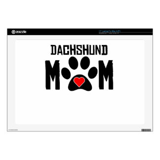 Dachshund Mom Decal For Laptop