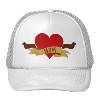 Dachshund Mom [Tattoo style] Trucker Hat