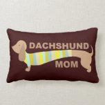Dachshund Mom Throw Pillows