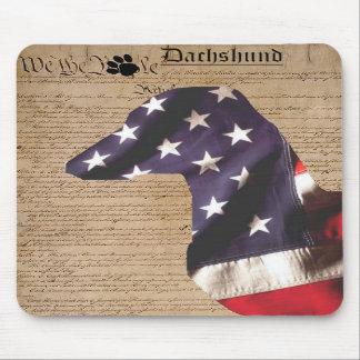 Dachshund Mousepad de la constitución