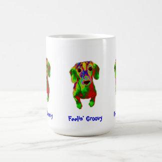 Dachshund Mug - Feelin' Groovy