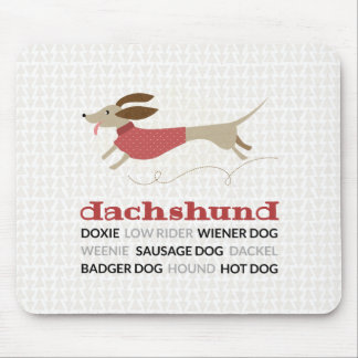 Dachshund Nicknames Mouse Pad