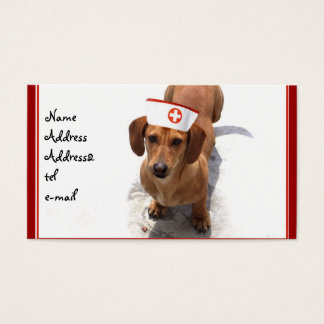 Dachshund nurse business card