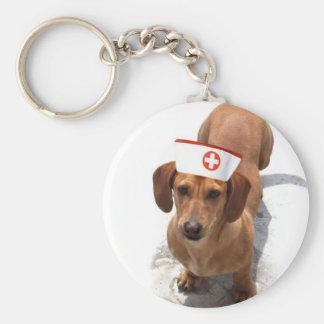Dachshund nurse keychain