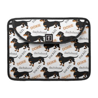 Dachshund o modelo lindo de Doxie Fundas Macbook Pro