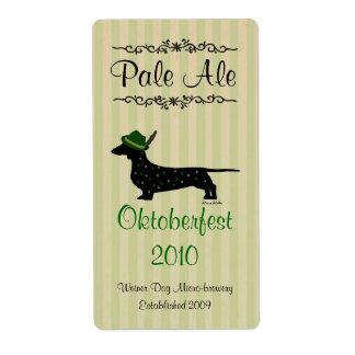 Dachshund Oktoberfest Home brewed beer Labels
