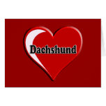 Dachshund on Heart for dog lovers Card