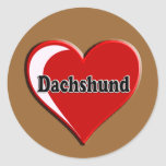Dachshund on Heart for dog lovers Stickers