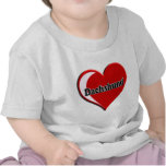Dachshund on Heart for dog lovers T Shirt