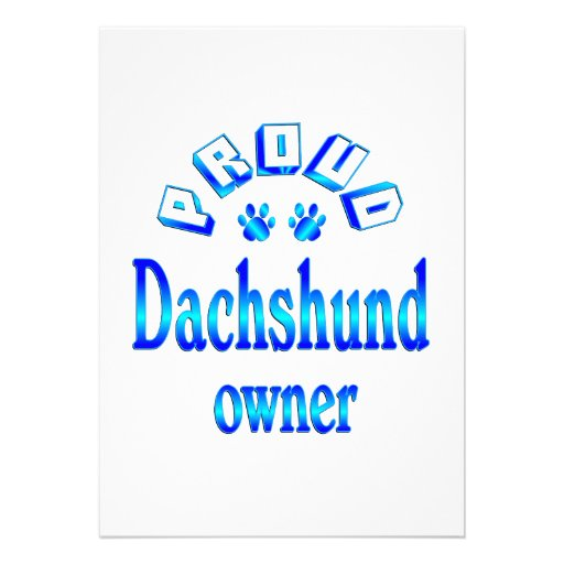 Dachshund Owner Invitations