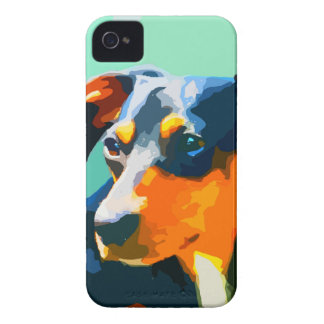 Dachshund Painted Doxie Portrait iPhone 4 Covers