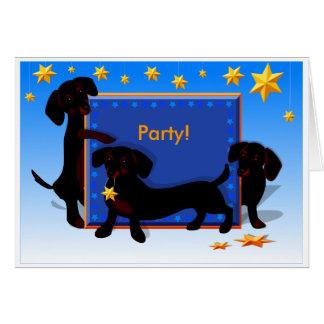 Dachshund party invitation