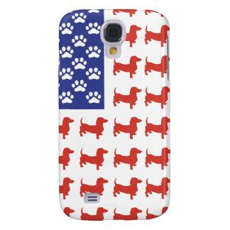 Dachshund patriótico Doxie Funda Para Galaxy S4