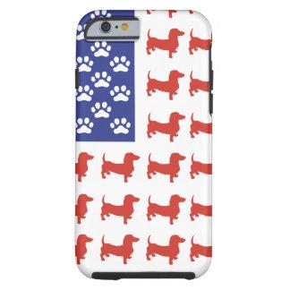 Dachshund patriótico Doxie Funda Para iPhone 6 Tough