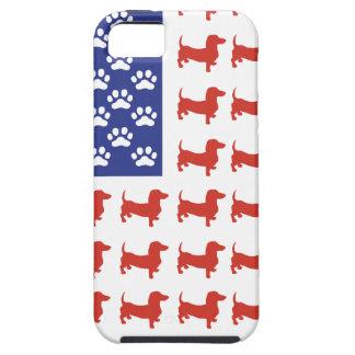 Dachshund patriótico Doxie iPhone 5 Funda