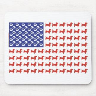 Dachshund patriótico Doxie Mousepad