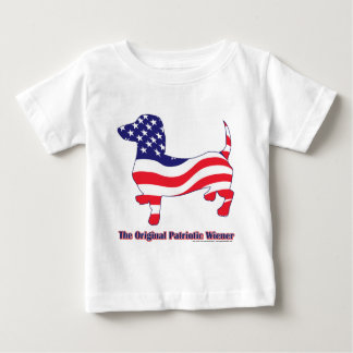 Dachshund patriótico - Doxie Playera De Bebé