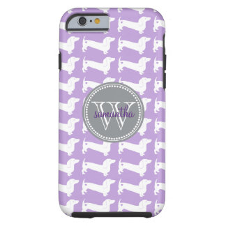 Dachshund Pattern Monogram Tough iPhone 6 Case