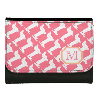 Dachshund Pattern with Mongram Wallet