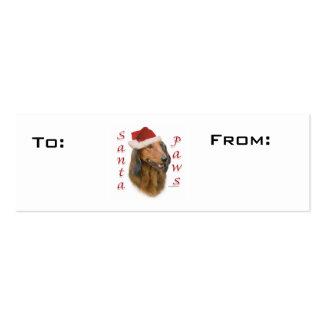 Dachshund Paws Gift Tags Mini Business Card