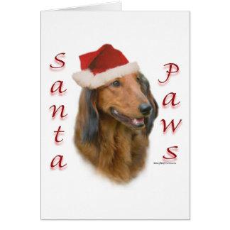 Dachshund Paws - Longhair Greeting Card