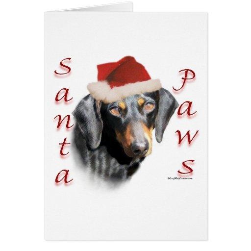 Dachshund Paws (smooth) Christmas Card
