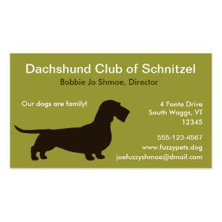 Dachshund (pelo del alambre) tarjetas de visita