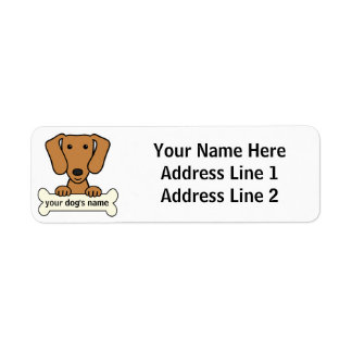 Dachshund personalizado etiqueta de remite