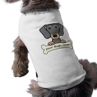 Dachshund personalizado camiseta de perrito