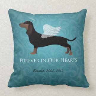 Dachshund - Pet Loss Memorial Design Throw Pillow