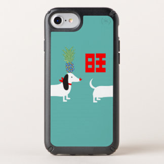 Dachshund & Pineapple Double Prosperity Speck iPhone Case