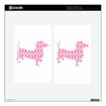 Dachshund Pink Ribbon for Cancer Kindle Fire Skins