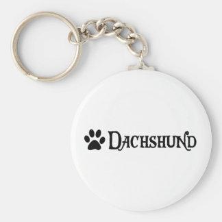 Dachshund (pirate style w/ pawprint) key chains