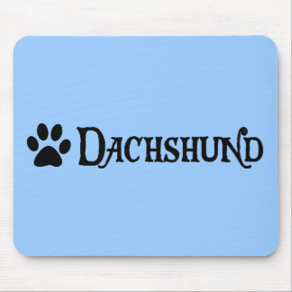 Dachshund (pirate style w/ pawprint) mouse pad