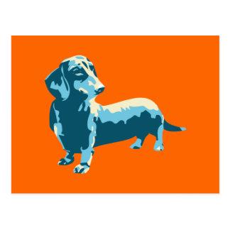 Dachshund Pop Art Dog Postcard