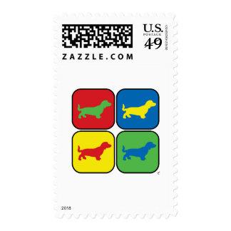 Dachshund Pop Art Stamp