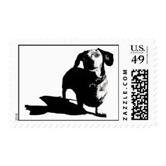 Dachshund Postage Stamp