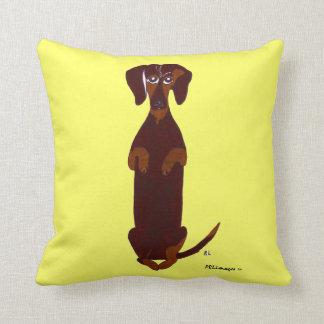Dachshund Print Pillow