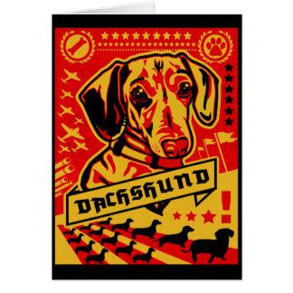 Dachshund Propaganda Card