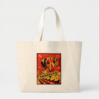 Dachshund Propaganda Large Tote Bag