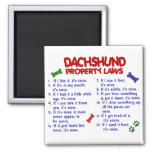 Dachshund Property Laws 2 2 Inch Square Magnet