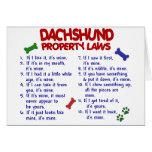 Dachshund Property Laws 2 Card