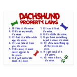 Dachshund Property Laws 2 Postcards