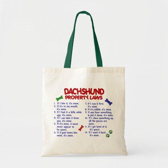 Dachshund Property Laws 2 Tote Bag