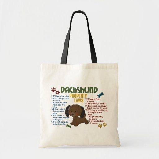 Dachshund Property Laws 4 Budget Tote Bag