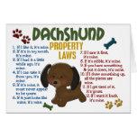 Dachshund Property Laws 4 Card