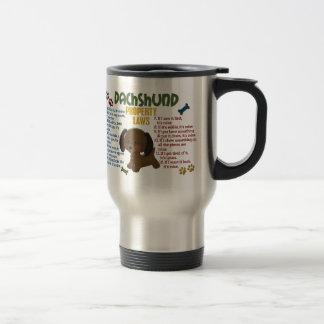 Dachshund Property Laws 4 Mug