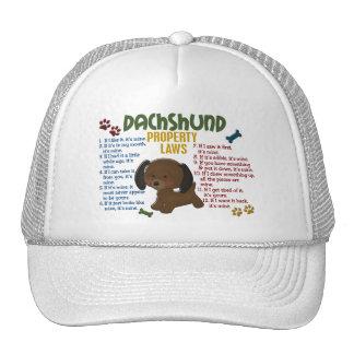 Dachshund Property Laws 4 Trucker Hats