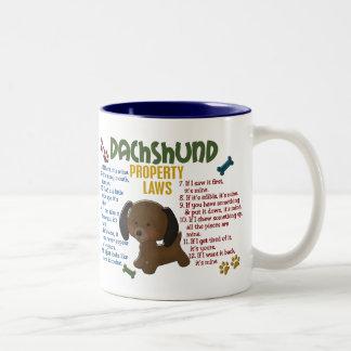 Dachshund Property Laws 4 Two-Tone Coffee Mug